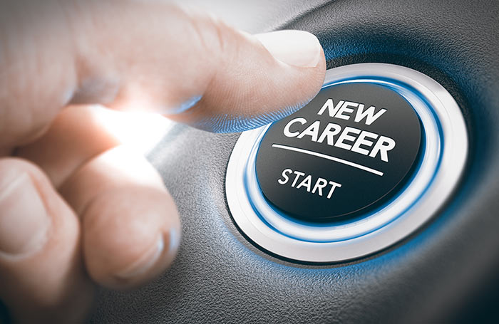 Pushing a new career button