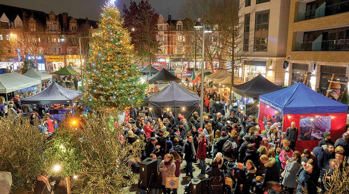 Christmas Tree Lights On 24th November 2018